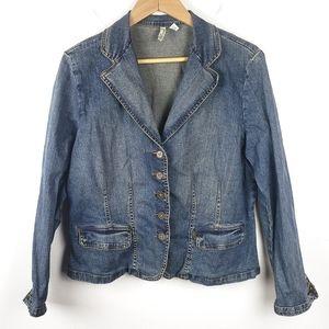 St. John's Bay   Stretch Denim Blue Jean Jacket XL